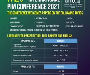 การประชุมวิชาการปัญญาภิวัฒน์ระดับชาติ ครั้งที่ 11 ระดับนานาชาติ ครั้งที่ 5 The 11th national and 5th international PIM conference 2021
