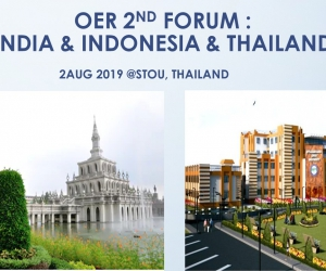 2nd OER FORUM THAILAND & INDIA & INDONESIA at STOU